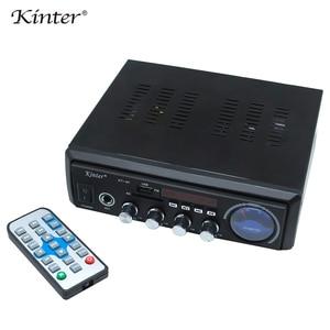 Image 3 - Kinter M1 אודיו מגבר 2.0CH עם USB SD FM מיקרופון 3.5mm קלט יכול לשחק MP3 MP4 MP5 אספקת חשמל 220 240V מתכת מארז