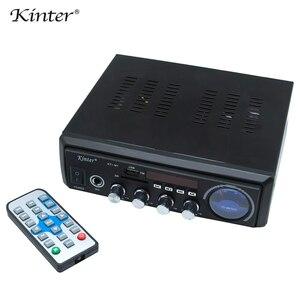 Image 3 - Kinter M1 amplificador de Audio 2.0CH con USB SD FM MIC 3,5mm entrada puede reproducir MP3 MP4 MP5 fuente de alimentación 220 240V carcasa de metal