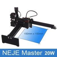 Neje master 20 w micro gravador do laser gravura máquina de marcação cortador roteador impressora para metal/madeira dura/plásticos|Roteadores de madeira| |  -