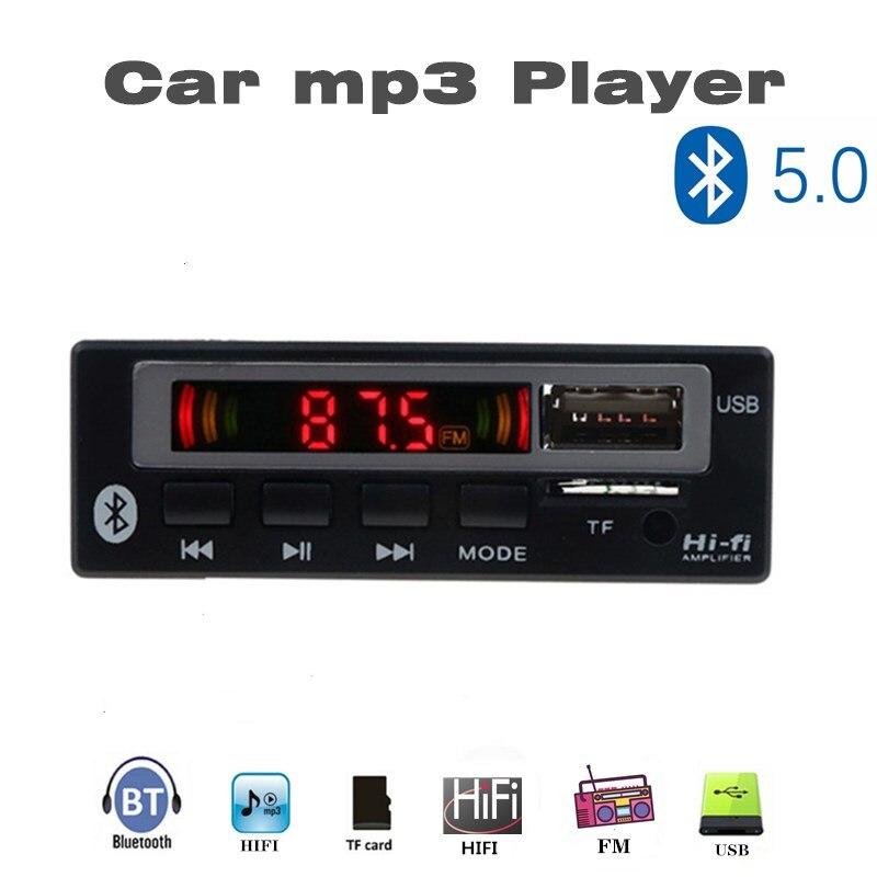 MP3 WMA WAV Decoder Board 5V 12V Wireless Audio Module Color Screen AUX  USB  TF FM Auto Accessories Audio Modification