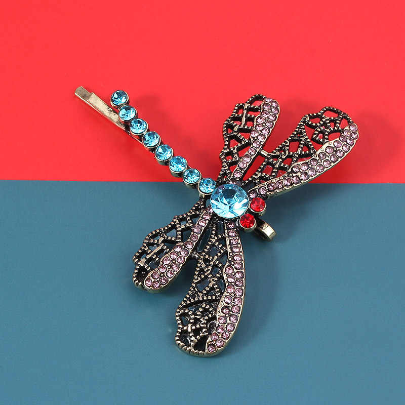 Coraline Dragonfly Rambut Klip Jepit Rambut Bobbypin Kalung Kerawang Renda Pola Logam Jepit Rambut untuk Wanita Perhiasan Natal