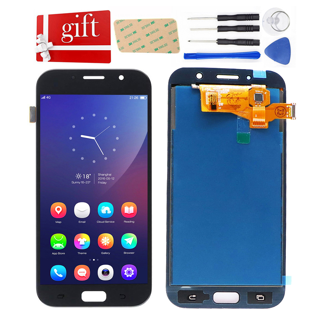 For <font><b>Samsung</b></font> Galaxy A7 2017 <font><b>A720</b></font> <font><b>LCD</b></font> Screen A720F A720M SM-A720F <font><b>LCD</b></font> Display Touch Screen Digitizer <font><b>LCD</b></font> Replacement Assembly image