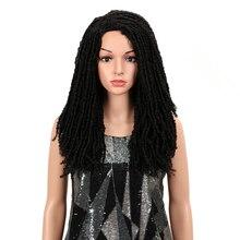 """קסם שיער 22 """"אינץ סינטטי פאות לנשים שחורות סרוגה צמות טוויסט ג מבו Dread פו Locs תסרוקת ארוך האפרו חום שיער"""