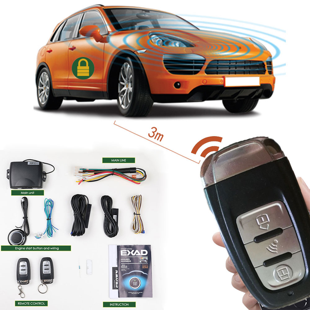 Signaling Car Alarm PKE Dark Lock Anti-theft Remote Start Central Lock Auto Alarm Start Stop Button  Autostart Central Locking