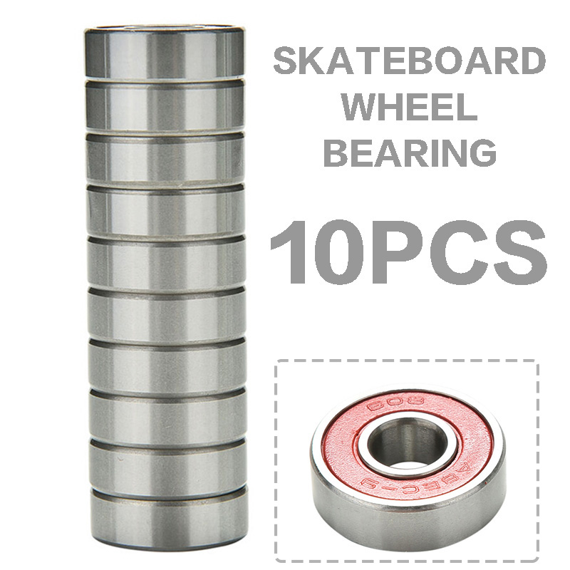 10pcs ABEC 9 Red TN Engineering Plastic Scooter Skateboard Wheel Bearings High Performance Roller Skate Scooter Skateboard Wheel