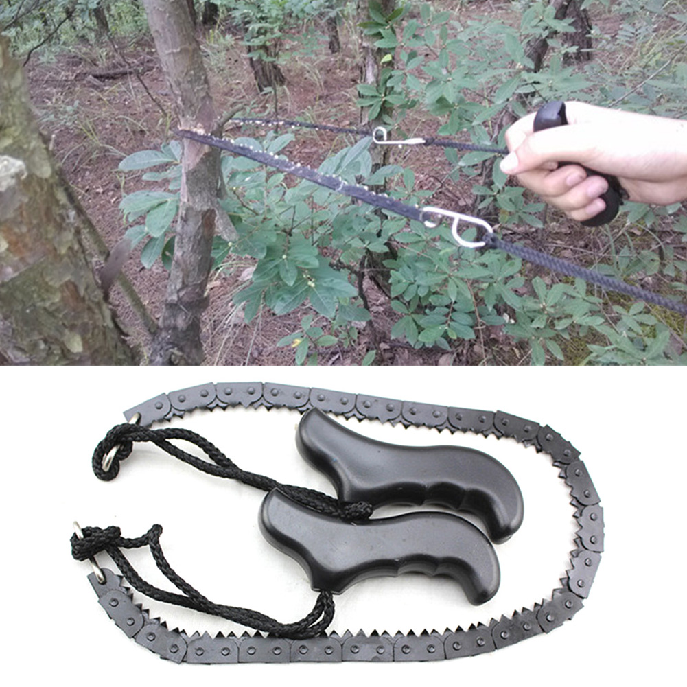48cm Chain Saw Outdoor Survival Pocket Chain Saw Hand Chainsaw Camping Hiking Hunting Outdoor Emergency Kits Camping