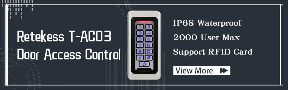 IP68 125KHZ ID Keypad Single Door Access Control 10x RFID Cards Wiegand 26 bit