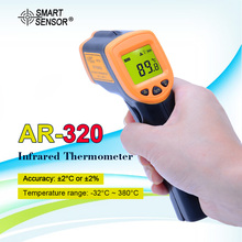 SMART SENSOR AR320 Digital Non Contact Infrared Thermometer Ir Laser Point Temperature Gun  26F~716F( 32C ~ 380C) Pyrometer