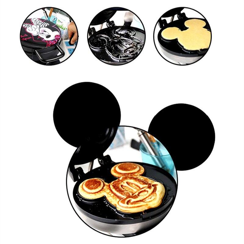 220V adorables formas de dibujos animados máquina eléctrica para hacer gofres pastel para el desayuno Placa de hierro para hornear máquina antiadherente para tortas - 4
