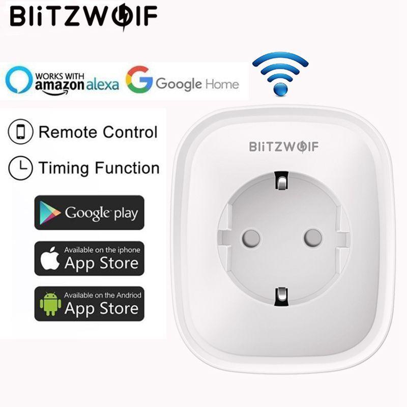 BlitzWolf BW-SHP5 WIFI Smart Home Socket EU Plug 2.1A Dual USB Ports 16A Work With Amazon Alexa Google Assistant IFTTT Tuya APP