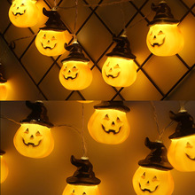 Newest Halloween Pumpkin Stringlight Remote Control Lantern LED Decorative Lights Party Wedding Decoration