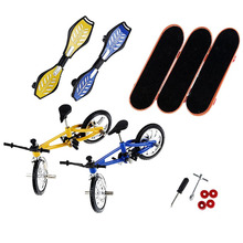 Finger skateboard bicycle scooter set skateboard +3 bicycle +2 vitality board 2 + accessories Toys Finger Scooter Skate Boarding цена 2017
