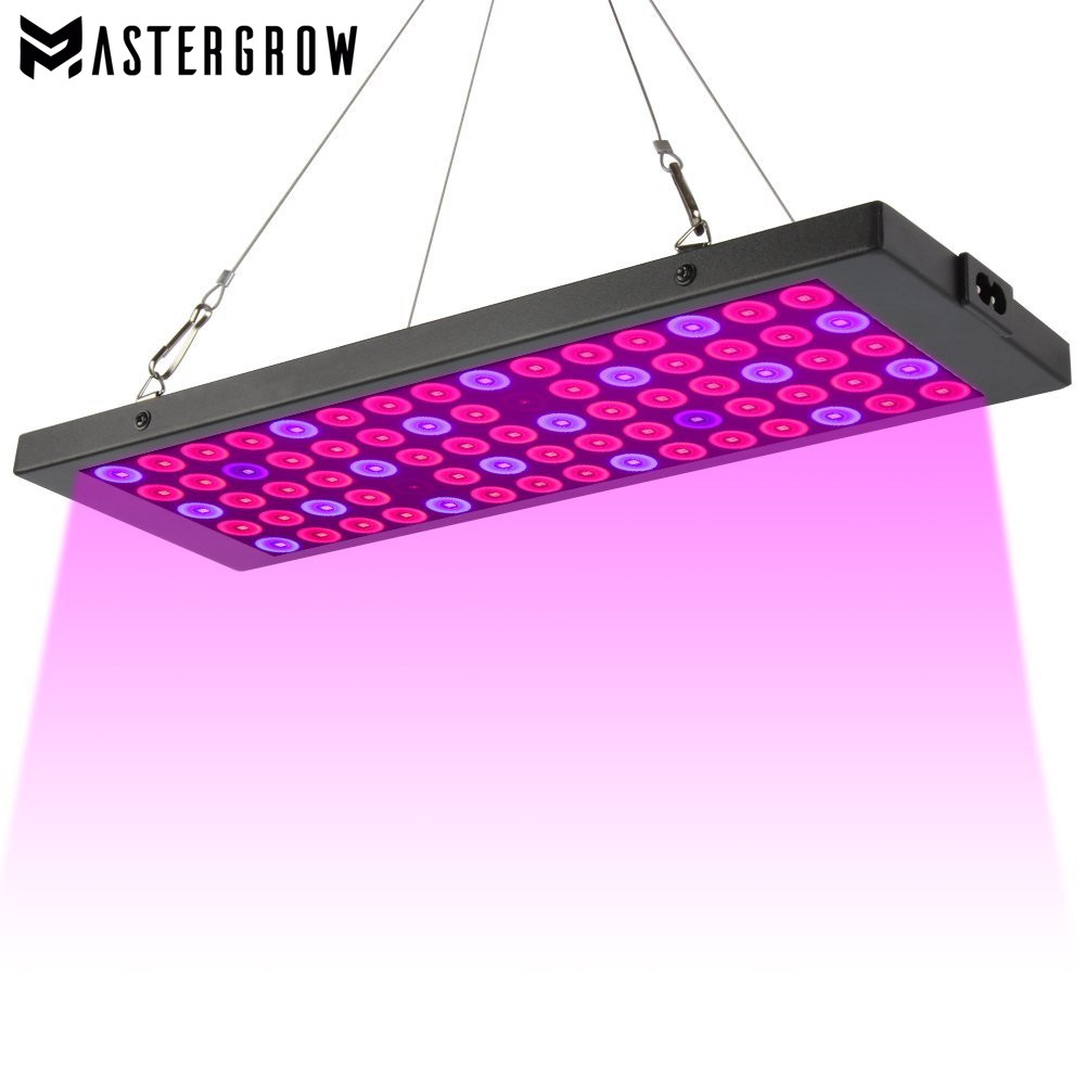 Full Spectrum 100W LED Grow Light Panel AC85~265V Greenhouse Horticulture Grow Lamp For Indoor Plants Flowering Growth Tent