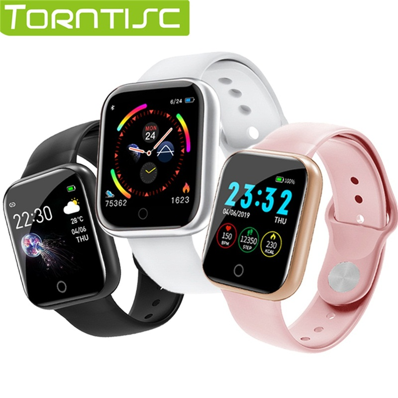 Torntisc Single Touch Smart Watch Men Women Heart Rate Blood Pressure Oxygen PK B57 Smartwatch For Apple Watch Android IOS(China)