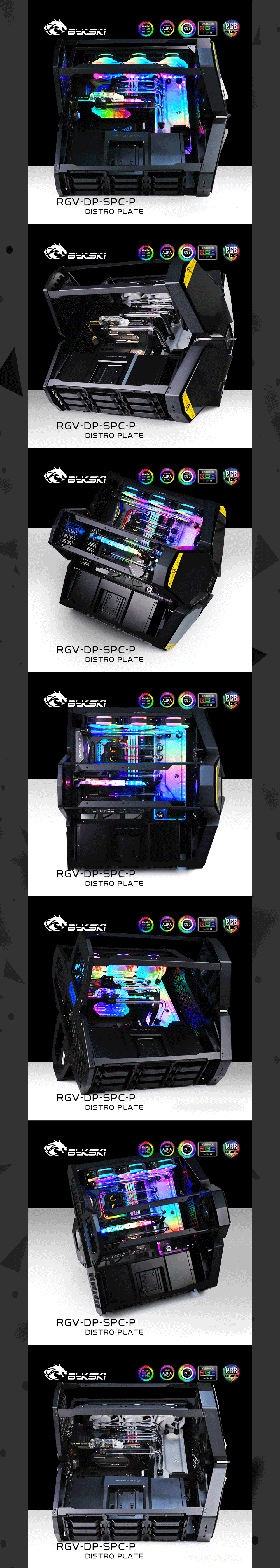Bykski RGV-DP-SPC, Waterway Boards Kit For DeepCool Quadstellar Case, RBW Waterway Board CPU/GPU Water Block Program Kit Bykski RGV-DP-SPC, Waterway Boards Kit For DeepCool Quadstellar Case, RBW Waterway Board CPU/GPU Water Block Program Kit CPU GPU Water Block For Deepcool Quadstellar Case,Bykski RGV-DP-SPC,CPU GPU Water Block Kit