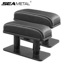 Универсальный автомобильный подлокотник подушка из искусственной кожи локоть Поддержка коврик главным фактором co-пилот положение покрыта...