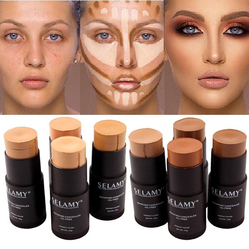 Whitening Liquid Foundation Face Natural Full Cover Contour Face Concealer Stick Base Primer Moisturizer Hide lemish Bronzer