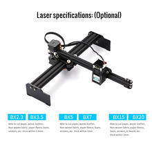 20W Desktop Laser Graveermachine Printer Art Craft Diy Lasergravure Cutter Voor Hout Plastic Bamboe Rubber Leer Ons plug