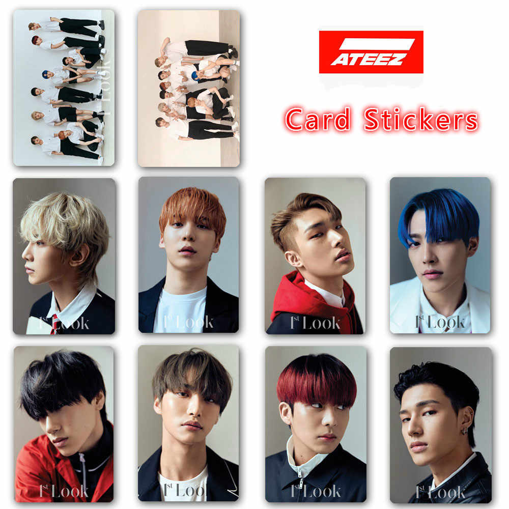 10pcs set Kpop ATEEZ Photo card stickers New album ZERO FEVER HD print Photocard stickers lomo.jpg q50