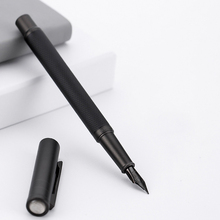 Black Fountain Pen Titanium Black EF/F/Bent Nib Beautiful Tree Texture Excellent Writing Gift Pen for Business Office supplise hongdian white fountain pen iridium silver ef f bent nib beautiful tree texture excellent writing gift pen for business office