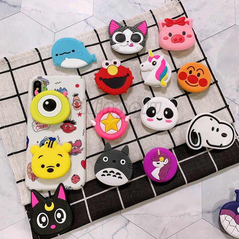 Wholesale Cartoon Universal Mobile Phone Finger Rings Holder For All Phone Expanding Phone Stand Finger Car Phone Holder