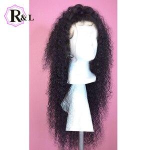 Image 4 - RULINDA מתולתל תחרה מול שיער טבעי פאות עם תינוק שיער 13*4 ברזילאי ללא רמי שיער תחרה פאות מראש קטף 130% צפיפות