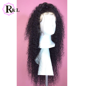 Image 4 - RULINDA Curly Lace Front Human Hair Wigs With Baby Hair 13*4 Brazilian Non Remy Hair Lace Wigs Pre Plucked 130% Density