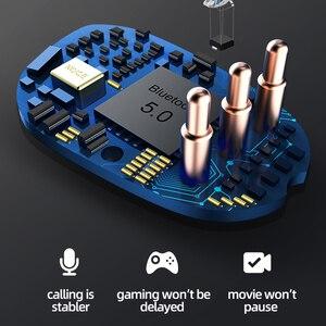 Image 5 - TOPK F13/ES01 TWS 5.0 Bluetooth kulaklık V5.0 taşınabilir Stereo kablosuz dokunmatik kulaklık spor bas kulaklık LED güç ekran