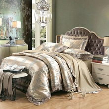 Oshines Luxury Jacquard Decoration Europe Style Set Of Bed Linens Double Bed Cover 220/240 cmElastic Sheet King And Queen Size Linen Comfortable Duvet 4pcs Bed Silk Cotton Duvet Cover Satin Quilts And Bedding Set bed linen set leticia collection estetica fabric of satin jacquard production of ecotex russian companies
