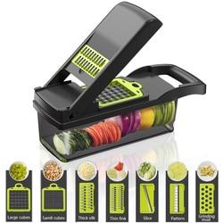 Vegetable Cutter Multifunctional Fruit Slicer Grater Cutter Peeler Potato Slicer Drain Basket Mandoline Tool Kitchen Accessorie