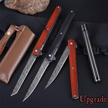 M390 Steel Fold Knife CS Go Portable Pocket Solid Wood Folding Knife Camping Hunting Knife Slicing Fruit Knives  OutdoorTool EDC 4