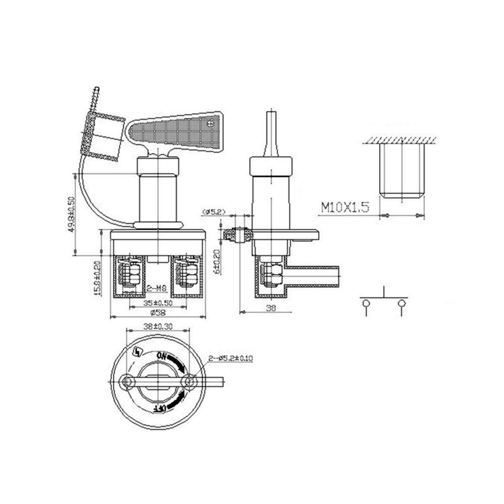 Аккумулятор для автомобиля, выключатель питания, выключатель питания для грузовика, профессиональный выключатель питания для водонепроницаемого чехла