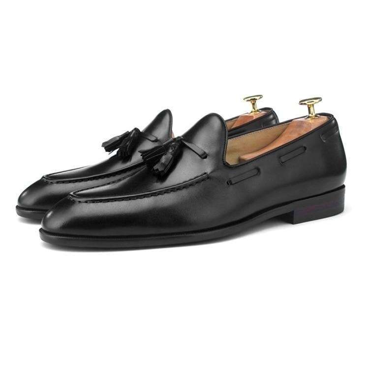 Wincheer/Новинка 2019 года; повседневные мужские лоферы из натуральной кожи на плоской подошве; мужские лоферы; удобная мужская обувь - 5