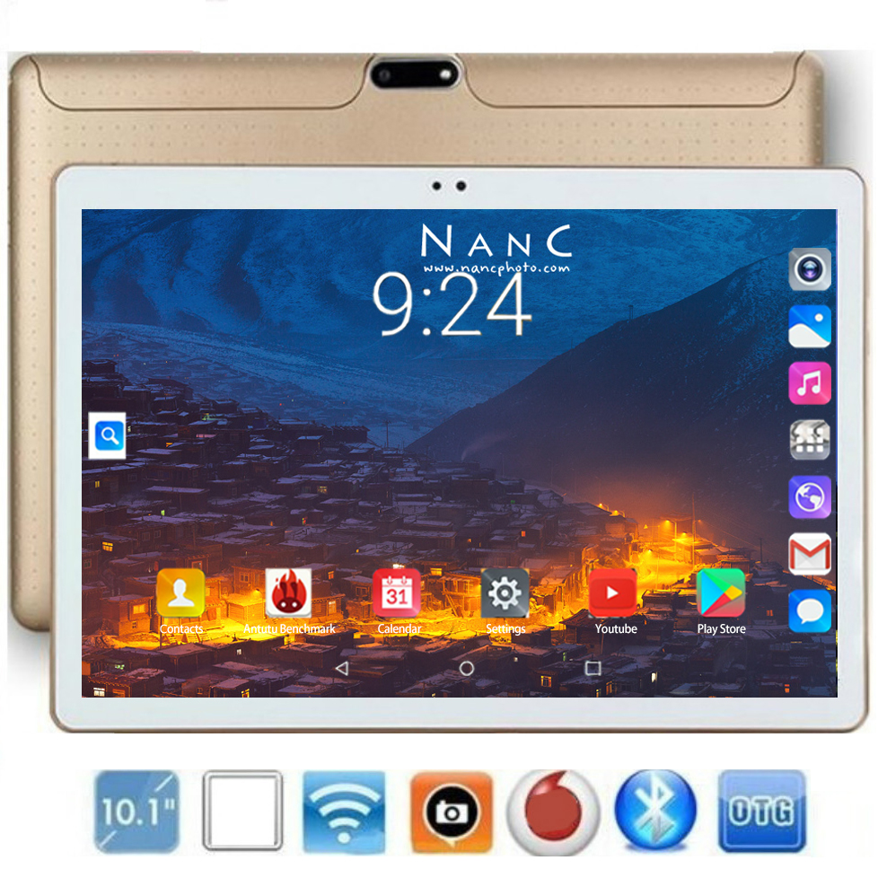 2020 Newest Version 10.1 Inch Tablet PC Octa Core 6GB RAM 128GB ROM 1280*800 IPS GPS WiFi 10 10.1 Tablets For Kids Android