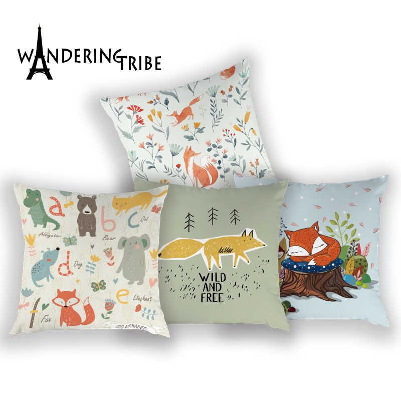 Volpe Federe Su Cuscini Decorativi Libero E Selvaggio Fodere per Cuscini per Cuscino Cuscino Personalizzato Cuscino Per Divano Cuscino Decorativo