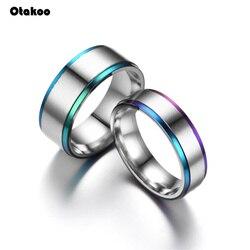 Otakoo мужские и женские радужные разноцветные ЛГБТ кольца из нержавеющей стали обручальные кольца Lebian & геев Прямая поставка