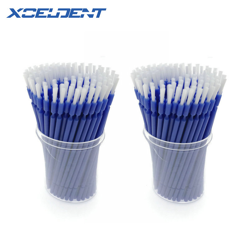 200pcs Dental Lab Long Disposable Micro Applicators Brushes Dental Brush