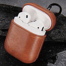 Earphone Case for Apple Airpods 1 2 Bluetooth Headset Air Pods Cover Shockproof Strap PU Leather Portable Case Pouch AirPod Bag kartice for airpods strap [nerer lose your airpod]iphone 7 iphone 7 plus air pods strap wire rope connector for apple airpod