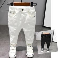 Children's pants Chorus Clothing Pure White/Black Students Contest Straight Pants Baby Boys Comfortable Latin Dance Trousers
