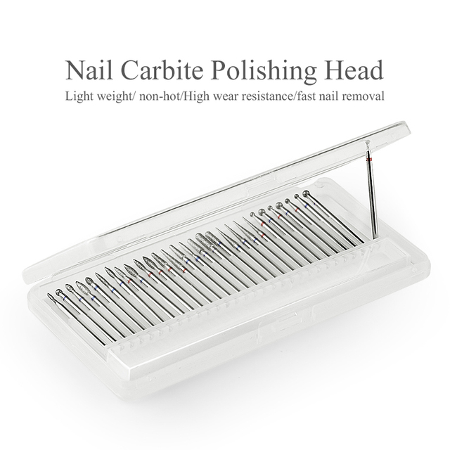 1PC Milling Cutter Nail Drill Bits Gel Polish Remover Grinding Electric Nail Art Drill File Pedicure Tool Buffer 5