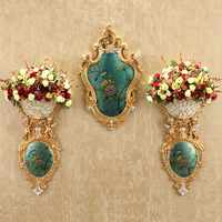 European flower angel wall hanging vase home wall creative flower pot pendant restaurant wall decoration