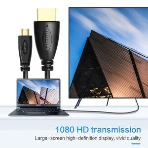 Image 5 - مايكرو HDMI كابل وصلة بينية مُتعددة الوسائط وعالية الوضوح محول سرعة 1080P 3D الذهب مطلي كابل الجلاد 1m 3m 5m ل HD TV XBOX مايكرو HDMI كابل محول