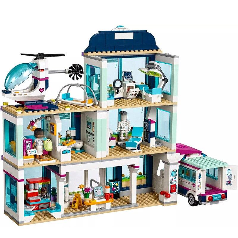 01039 Legoinglys Friends Frends City Heartlake Hospital Ambulance Block Set Princess Undersea Palace 41318 Girls Toys