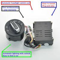 AUTO Chrome Headlights Switch Sensor Module For Golf 4 New MK4 Polo Bora Passat B5 Bugs 5ND941431B 5ND 941 431 B