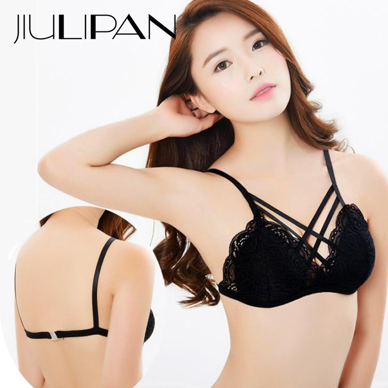 JIULIPAN Underwear women gather no steel ring big breasts sexy bra to receive the milk on the support drooping no trace thin bra in Bras from Underwear Sleepwears