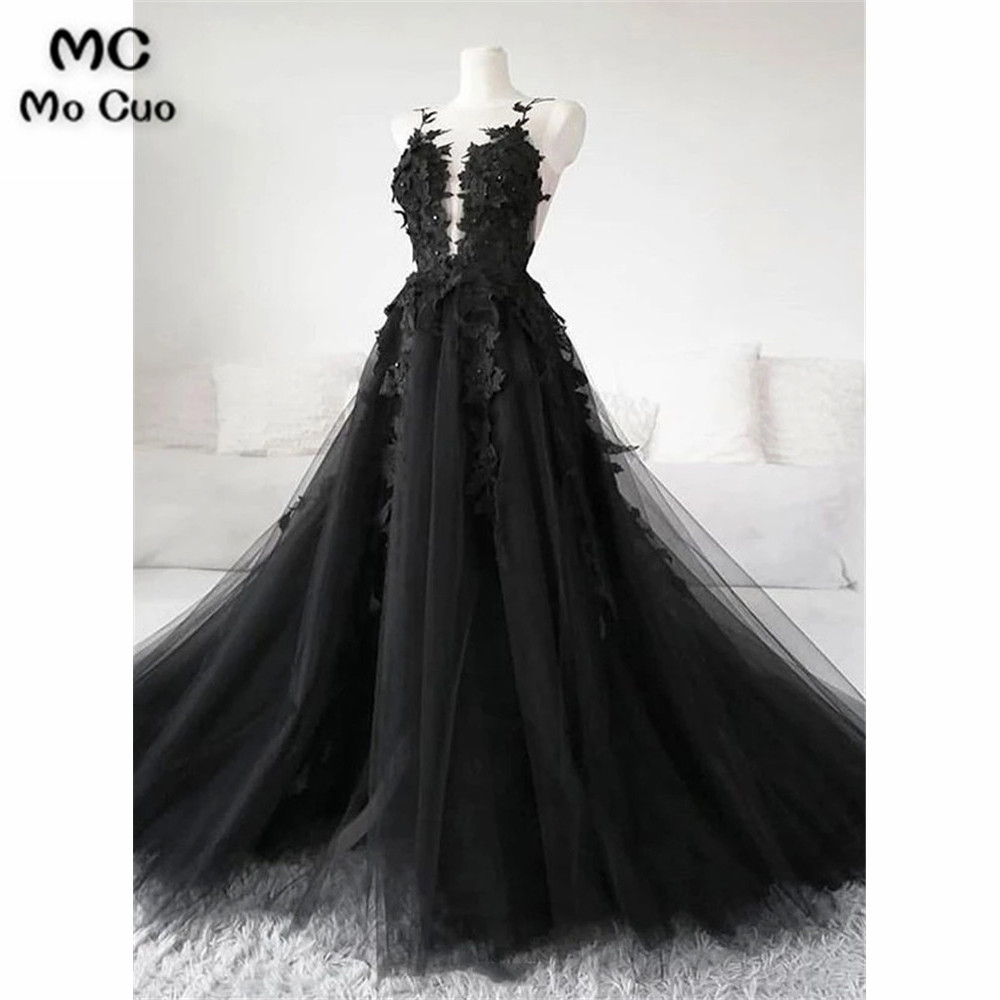 A-Line Puffy   Evening     Dresses   Long Appliques Flowers Beaded Tank Sweep Train Women's   Evening     Dress   Tulle Prom   Dress   Custom Made