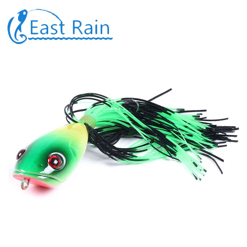 1pc Topwater Frog Lure For Bass Snakehead Freshwater Bait Soft Saltwater I0G9