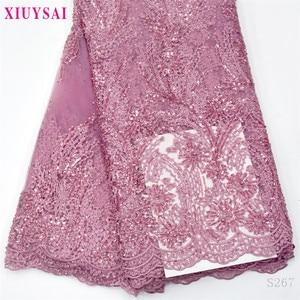 Африканские розовые цветы кружевная ткань для шитья французский тюль кружева ткани прекрасный дизайн для африканских нигерийских свадебн...