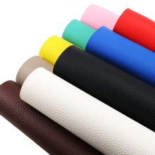 Diy-Material Upholstery Faux-Leather Fabric-Sheets Clothing Lychee-Grain 1yc3889 Solid-Color