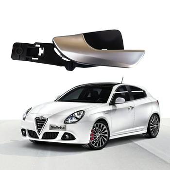 Wnętrze samochodu chromowana klamka chrome lewa przednia prawa do Alfa Romeo Giulietta stylizacja wymiana części wewnętrznych tanie i dobre opinie FEELWIND Interior Door Handles 156092167 CHINA Dla leworęcznych
